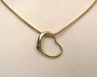 14kt Heart Necklace 7737