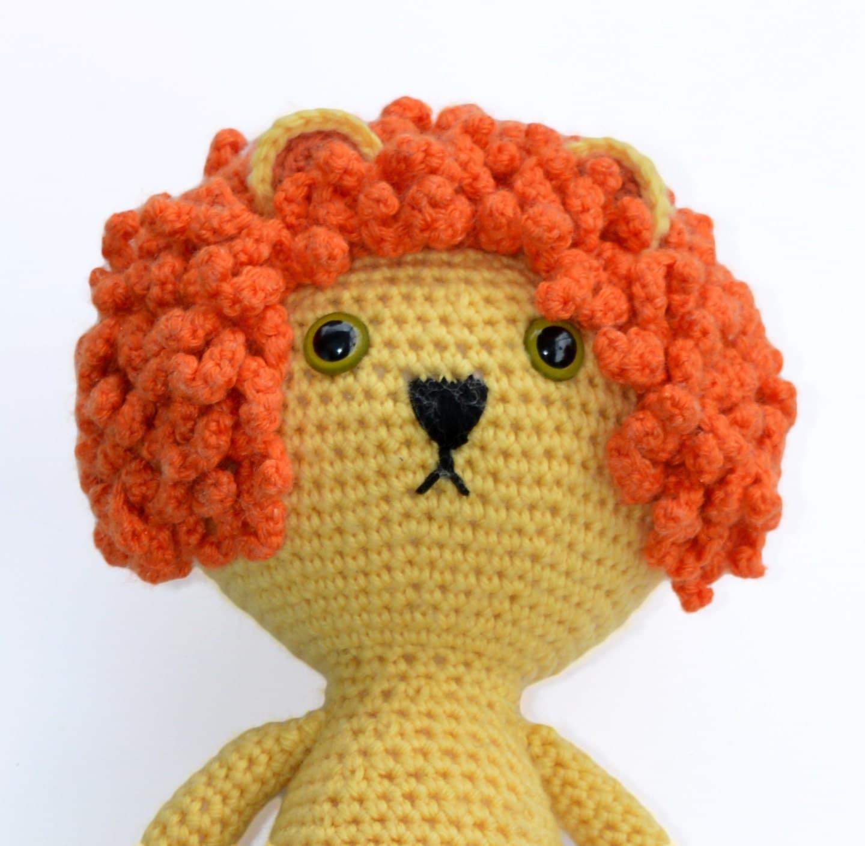 Amigurumi Baby Footprints Patterns : Cute Crochet Amigurumi Lion Pattern DIY Soft Toy by ...
