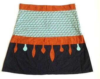Vintage skirt by Tranquillo Germany Short skirt Mini skirt A line Skirt