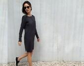 T Shirt Dress Black Dress Long sleeves dress soft fabric