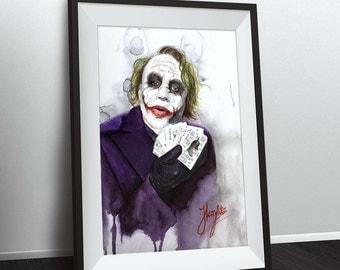Joker - The Dark Knight - Heath ledger joker - batman - fine art print