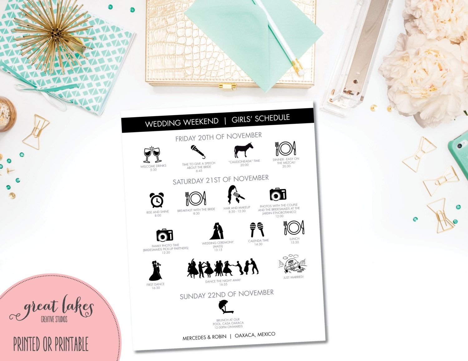 Wedding Table Wedding Timeline wedding day timeline etsy modern agenda icons bridal party graphic clip art silhouette printable