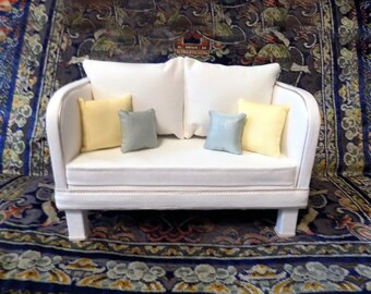 AG Furniture Cream Contemporary Doll Sofa