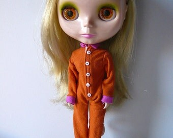 Union suit for blythe and licca dolls