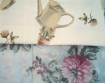 """Home sewn pet crate pad blanket bedding durable LARGE 28""""x17"""" garden floral design FREE SHIP"""