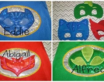 Superhero Cape PJ Masks  - Personalized  Handmade in USA