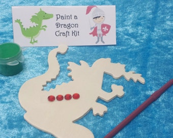 PARTY PACK Knight Paint a Dragon Craft Kit (Medieval, Royal, Knight, Dragon)