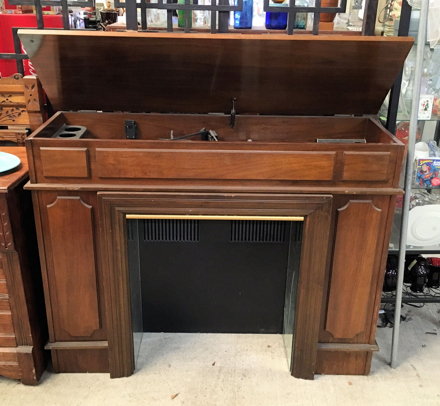 stereo retro vintage modern century by mid in hand cabinet made ricksawyerfurniture custom blue maple