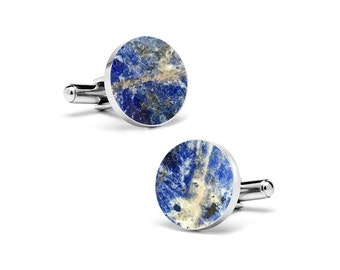 Real Marble Cufflinks (Round) by MIKOL