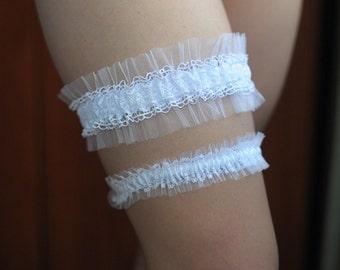 Weddings lace tulle garter set veil garter bride garter bridal accessories wedding garter set garter accessories white garters set
