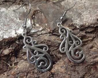 Filigree earrings Sterling Silver Earrings