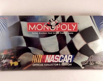 Monopoly Game Nascar Official Collector's Edition Car Racing Board Game Vintage New Condition Factory Sealed Box Hasbro Family Game