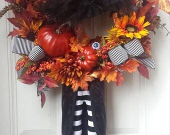 XXL Halloween Witch Wreath