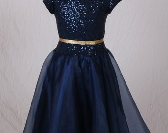 Allie- sequin and organza dress size 10