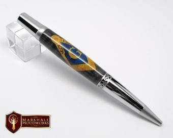Masonic Emblem Wood Pen