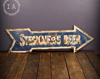 Vintage Stegmaier's Beer Arrow Neon Sign Skin
