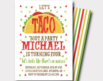Taco Birthday Invitation | Fiesta Birthday Invitation | Fiesta Invitation | Mexican Birthday Invitation | First Birthday