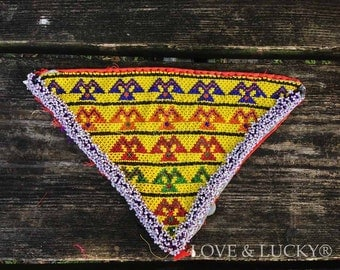 Afghan Beadwork / Kuchi Beaded Patch  / Gipsy  / beaded-patch-101