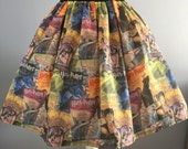Ladies or girlsHarry Potter Book Covers inspired full skater style skirt
