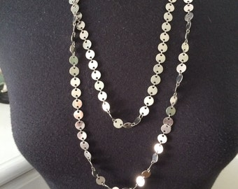 Silver mini coin link necklace