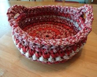 Crocheted Fabric Basket (Medium)