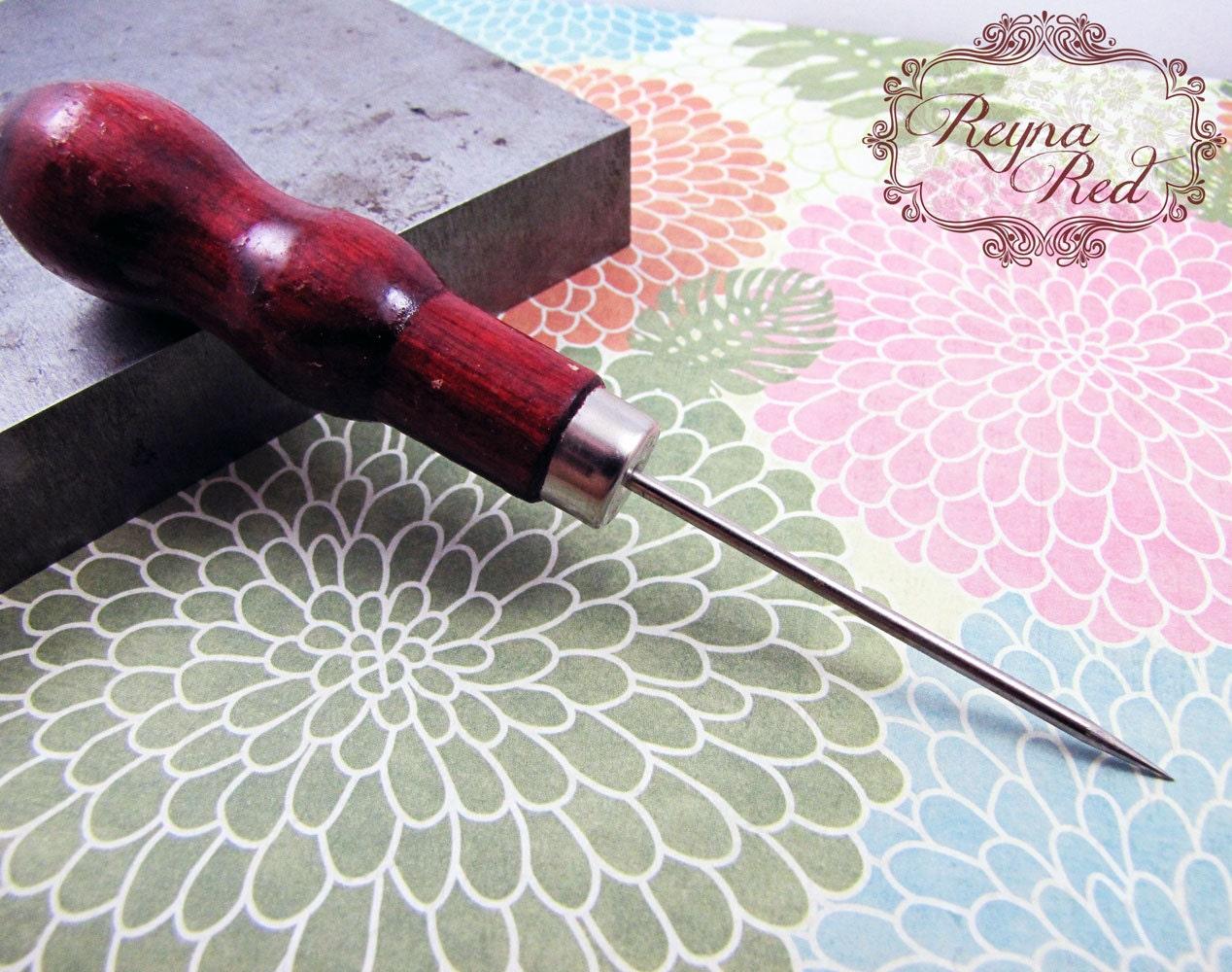 beading awl wood handle steel awl beading tool jewelry