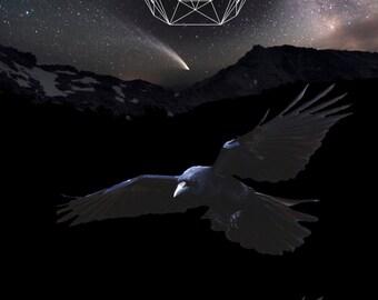 Crow Shaman Poster 12 x 18