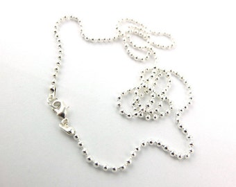 5 Silver Necklace ball chains