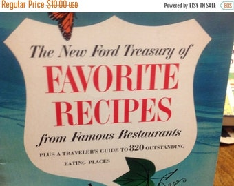 On Sale The New Ford Treasury of Favorite Recipes From Famous Restaurants Cookbook Vintage Cookbook