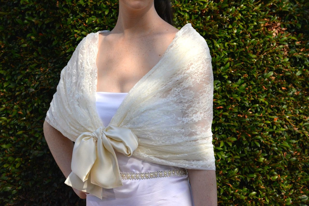 Ivory wedding shawl Bridal shawl lace bridal shawl lace