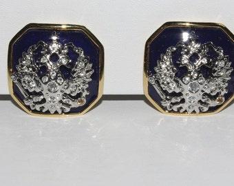 Joan Rivers Earrings - Imperial Eagle Earrings Clip On - S1861