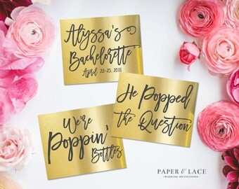 Bachelorette Party Champagne Labels \\ Set of 6