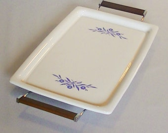 Corning Ware Broil Bake Tray and Low Ride Serving Stand