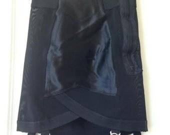 Vintage lingerie Black Garter Skirt
