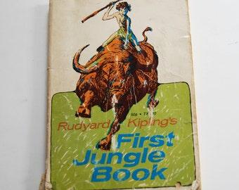 Vintage Children's Book, Rudyard Kipling's First Jungle Book