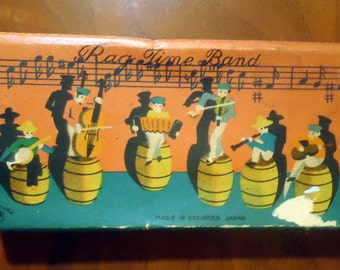 Rag Time Band Toy in Original Box  Occupied Japan