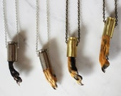 Squirrel Paw & Bullet Casing Necklace