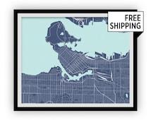 Vancouver Map Print - Any Color You Like