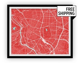 Madrid Map Print - Choose your color
