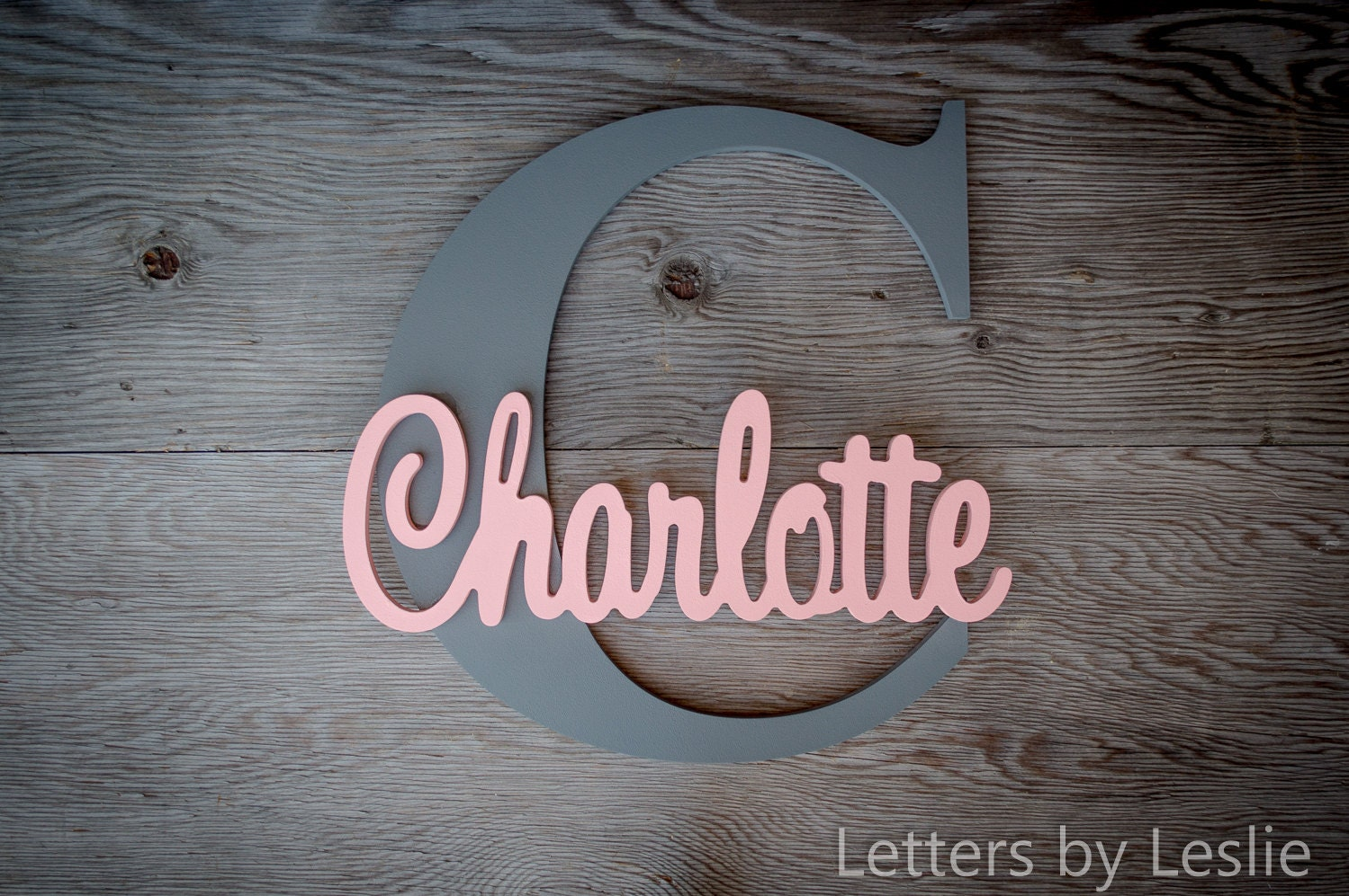 Wood letters wooden letters wood sign name plaque name for Letter name signs