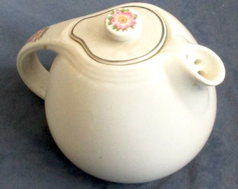 Hall Kitchenware White Rose Teapot