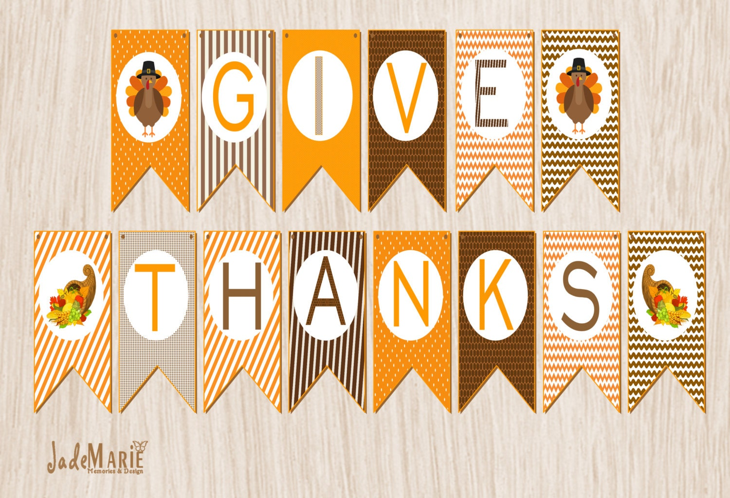 It's just a picture of Gratifying Give Thanks Banner Printable