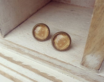 Brass cookie earrings - cute earrings - gifts for her - summer accessories