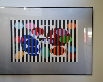 Agam-Limited edition Framed Artwork