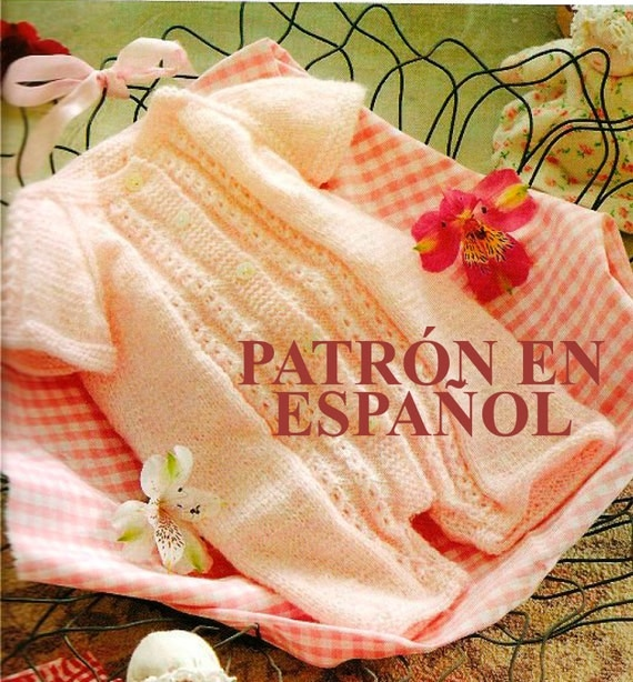 Knitting Crochet In Spanish : Baby layette pattern babies romper pants