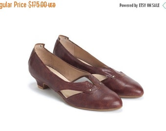 Summer Sale 15% OFF Leather Shoes , Womens Shoes, Handmade Shoes, Low Heel Shoes, Casual Shoes, Lace Up Shoes Brown Shoes