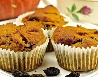 Pumpkin Cherry Muffins (Gluten-Free)