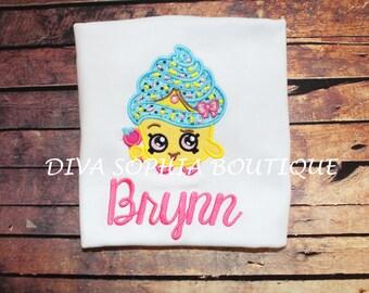 Personalized Shopkins Cupcake Queen Shirt