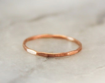 Rose Gold Faceted Ring
