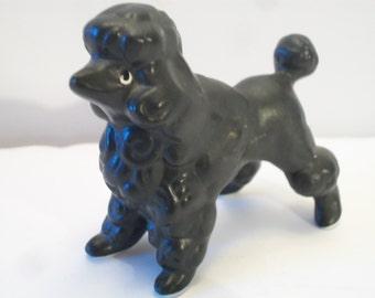 Vintage Small Black Poodle Figurine